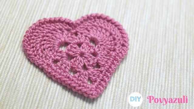 DIY Crochet and Knitting Povyazuli: [Crochet] How to make Crochet Granny Square Heart.