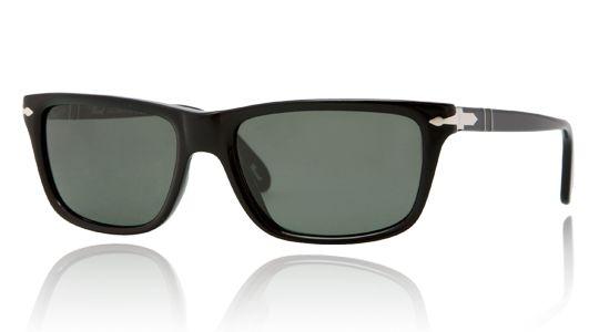 Persol per uomo po3026s  - 95\31 (BLACK\crystal green), Occhiali da Sole Calibro 58