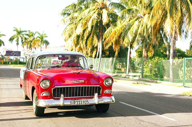 Cuban Charm - A vintage American car on the streets of Varadero, Cuba
