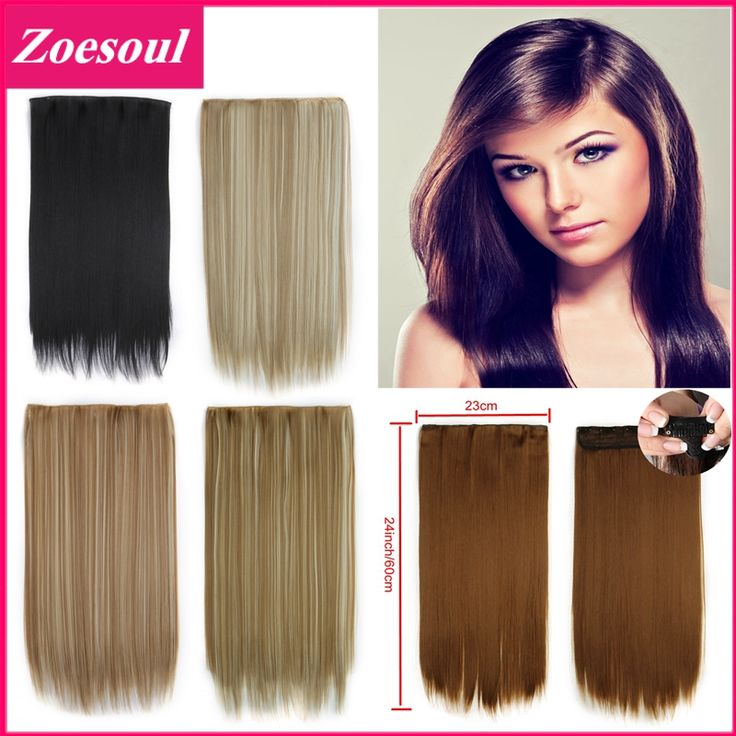 Extensiones De Pelo Natural Clip In Hair Extensions 24inch 60cm 120g One Piece Full Head Clip On Hair Extensions 666 Pelo