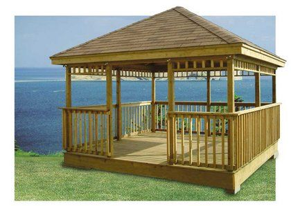 Screened pavilion gazebo backyard projects are only for Home hardware gazebo plans