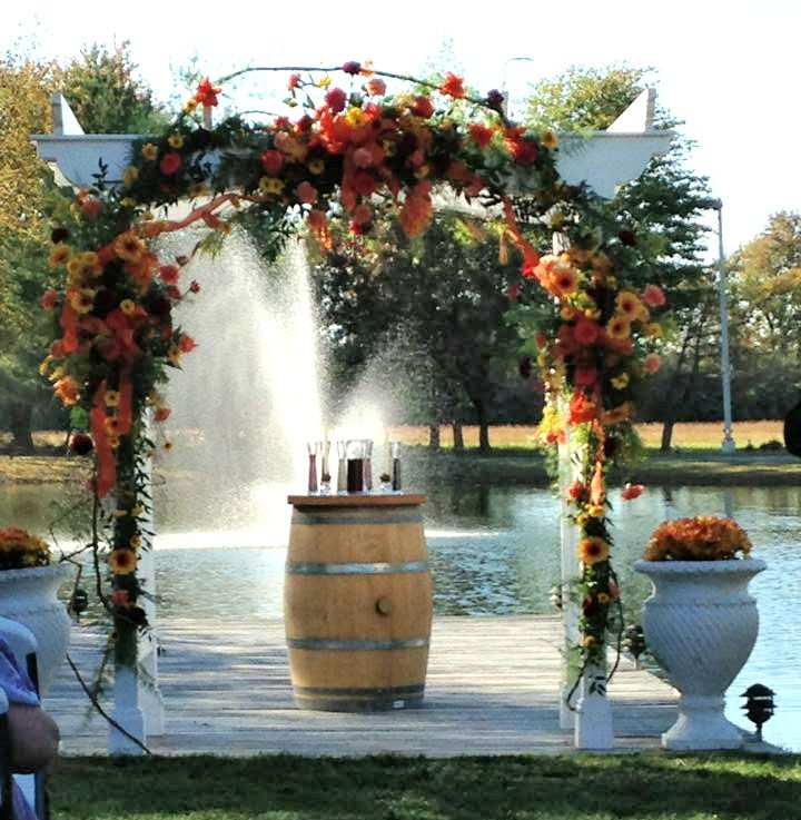 Diy Wedding Arch With Sunflowers: Gorgeous Fall Arch Flowers With Gerbers, Roses, Sunflowers
