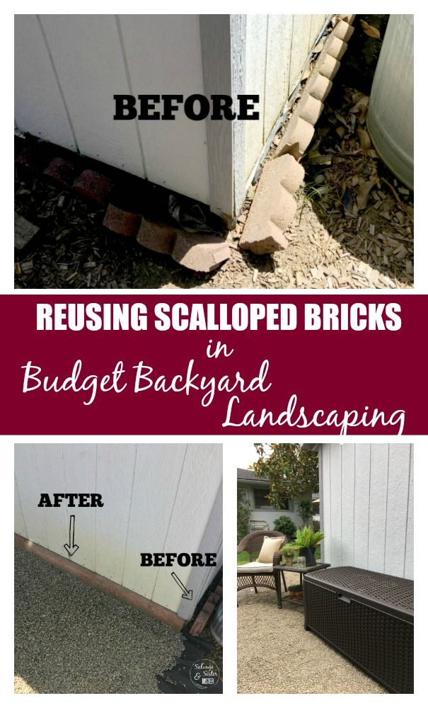 Don T Like The Look Of Scalloped Bricks What If You Could Reuse Them In Your Landscaping You Can He Landscape Bricks Budget Landscaping Backyard Landscaping