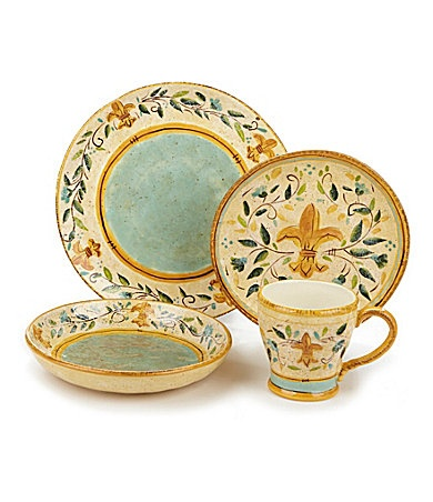 Certified International  Tuscan Fleur  Dinnerware | Dillards no longer carries these dishes but  sc 1 st  Pinterest & 14 best Tuscan Dinnerware images on Pinterest | Dinnerware Dish ...