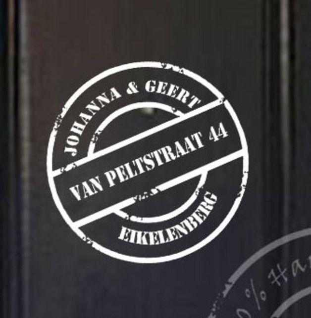 Stempel naam sticker voor deur Decoratie sticker