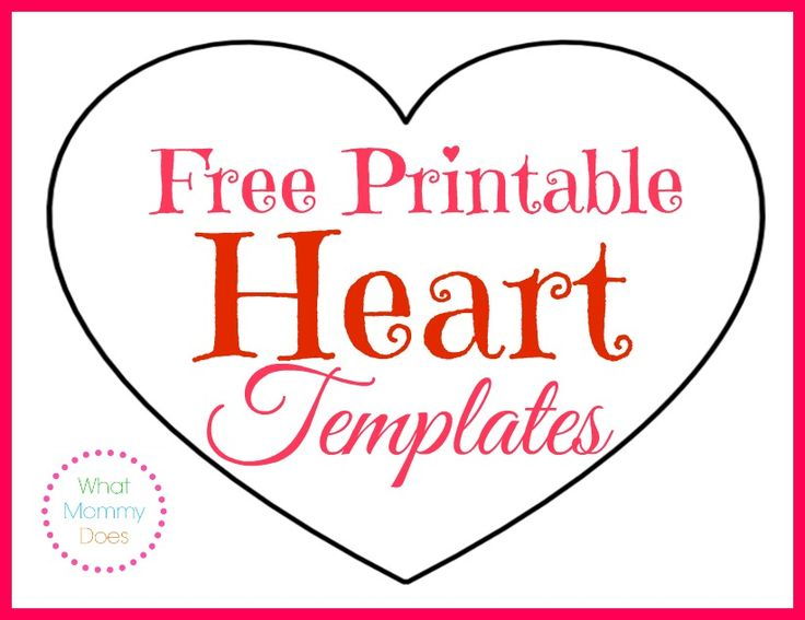 printable heart shapes tiny small medium outlines