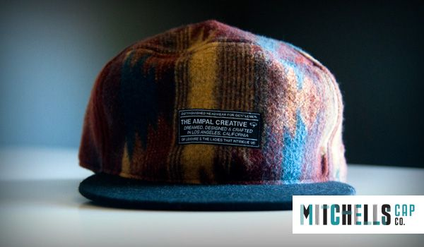 Mens Custom Winter Hat – Men's 6 panel flat peak fashion hat with an embroidered fabric label. In a scrumptiously warm wool with earthy tones.
