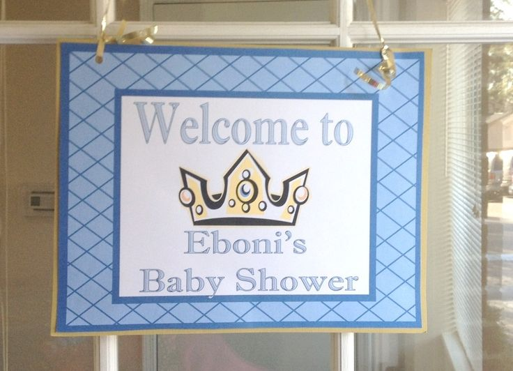 We Heart Parties: Party Details - Little Prince Baby Shower