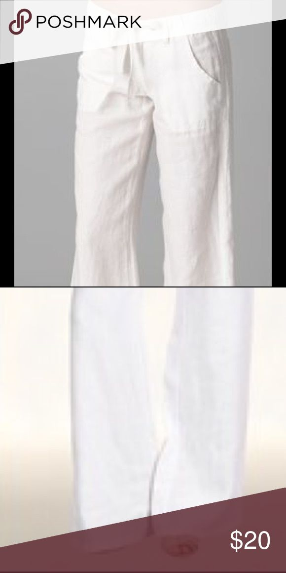 white beach pants white linen beach pants worn a few times just too big for me Forever 21 Pants
