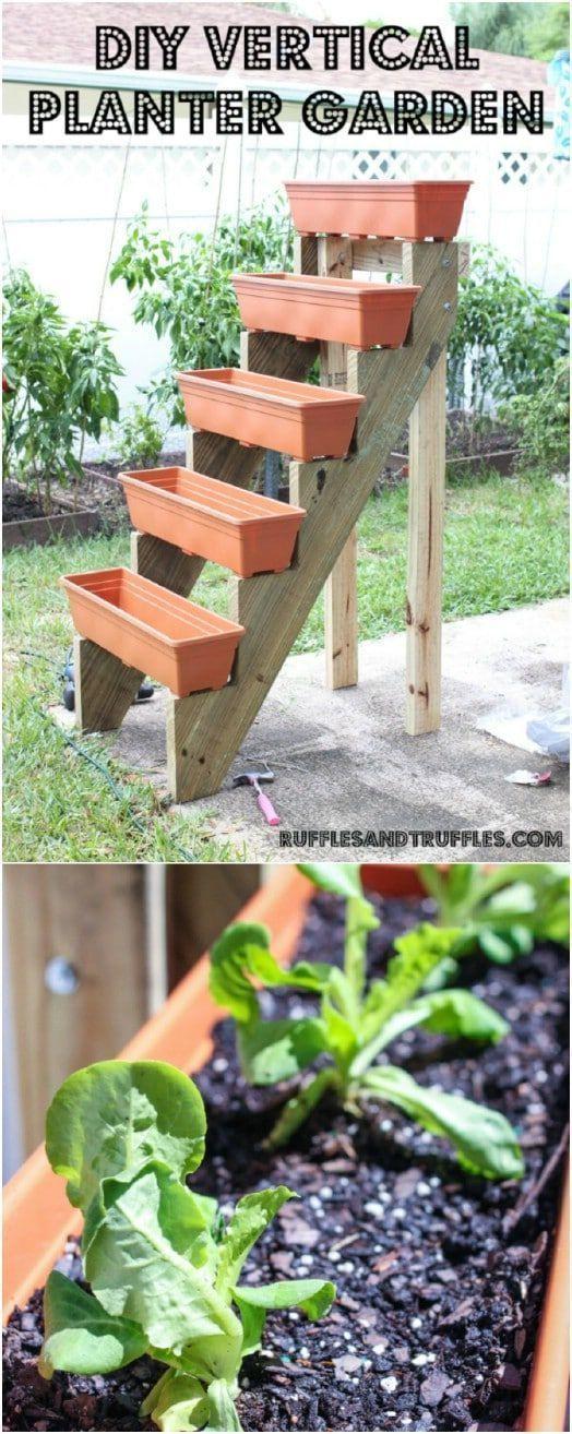 20 jardins verticais de bricolage preparando alegria em pequenos quartos #saving #fre   – Garden ideas for small spaces