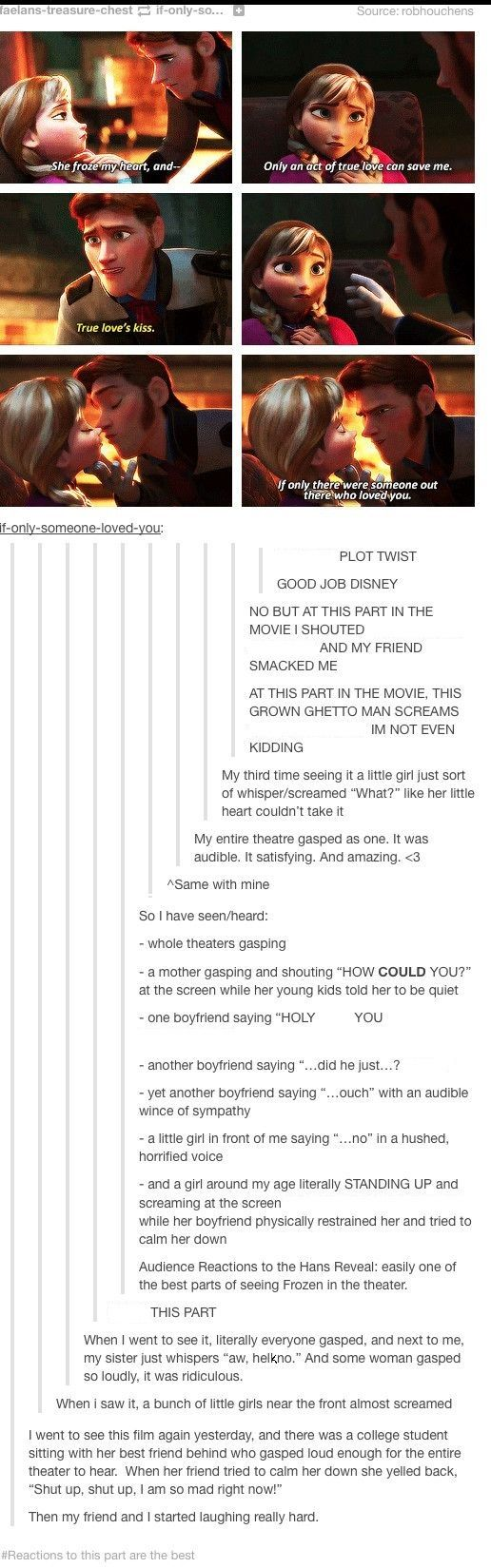 Reactions to Frozen.