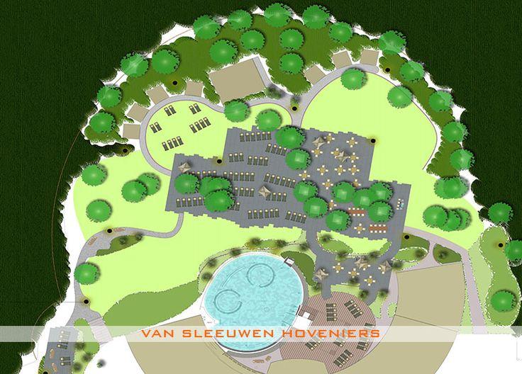 2D ontwerp & uitvoering door Van Sleeuwen Hoveniers - Veghel