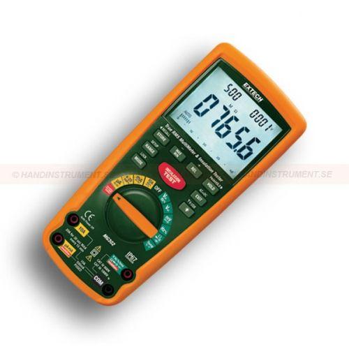 http://handinstrument.se/eltestare-r156/kat-iv-isolationsprovare-multimeter-med-sparbart-kalibreringscertifikat-53-MG302-NIST-r245  Kat IV isolationsprovare/multimeter med spårbart kalibreringscertifikat  Trådlöst USB-gränssnitt överför mätdata till PC med 433 MHz  Bakgrundsbelyst superstor trippel-display  125V, 250V, 500V, och 1000V provspänningar  Isolationsresistans från 0.001MOhm till 4000MOhm  Automatisk urladdning av kapacitiva spänningar  Lås Power On Funktion...