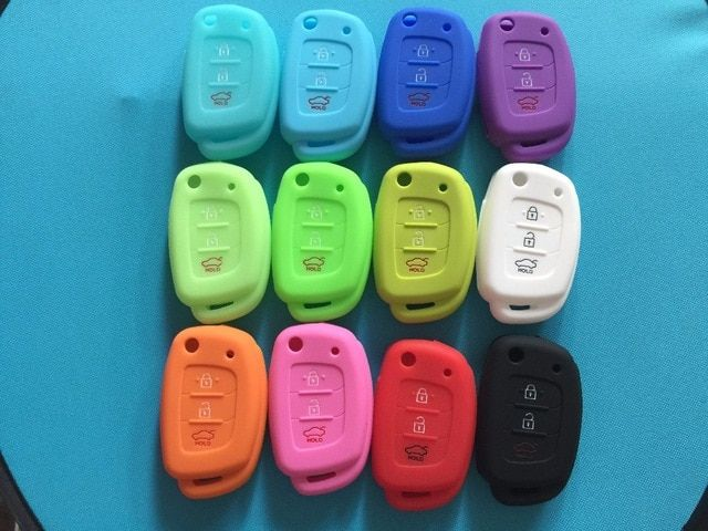 Pusakieyy 3 Button Silicone Car Remote Flip Key Fob Shell Cover