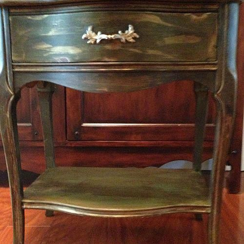 painted furniture thrift furniture with chalk paint and dark wax, chalk paint, painted furniture, Night stand painted and waxed with Annie Sloan product
