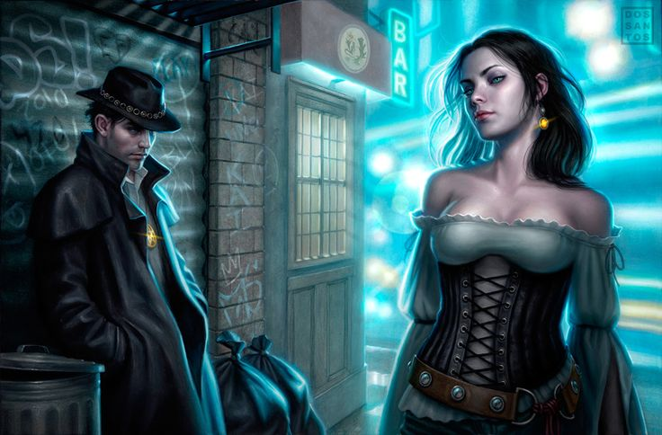 """Naked City"", Dresden Files private commission by Dan dos Santos"