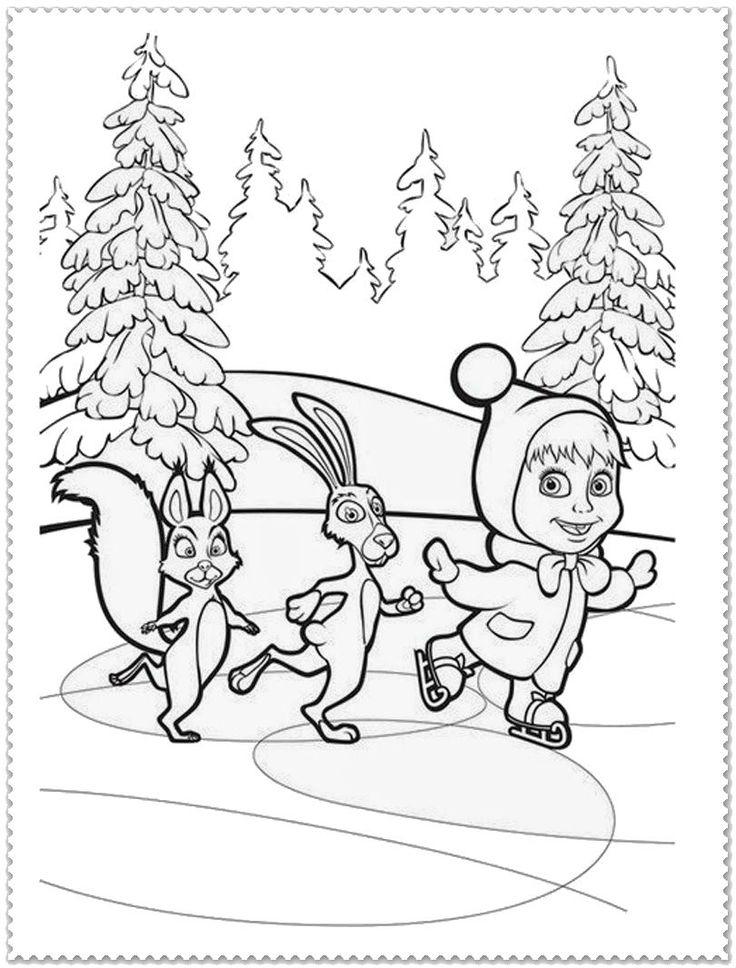 Masha And Bear Ice Skating