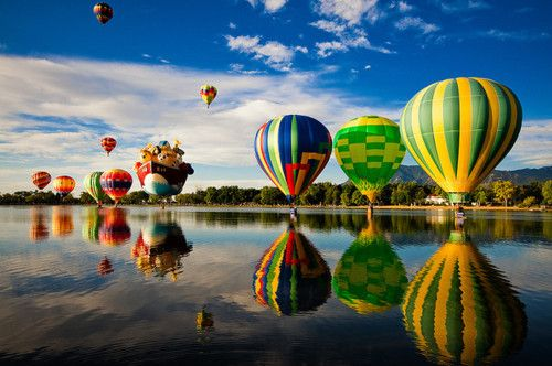 Colorado Springs, Colorado: Water Reflection, Buckets Lists, Hotair, Air Balloon Riding, Colorado Home, Hot Air Balloons, Photo, Bold Colors, Colorado Spring