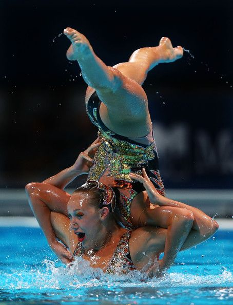Canada compete in the Synchronized Swimming Free Combination preliminary round on day two of the 15th FINA World Championships at Palau Sant Jordi on 21 July 2013 in Barcelona, Spain.
