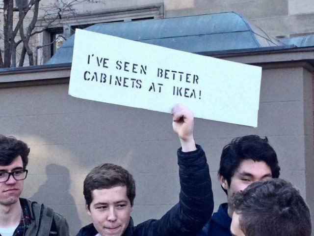 Funniest Women's March Signs From Around the World: I've Seen Better Cabinets at Ikea