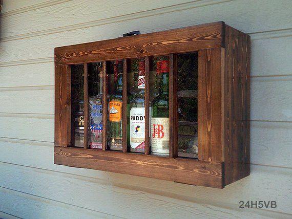 Wall Mounted Liquor Cabinet Murphy Bar Wall Bar Clear