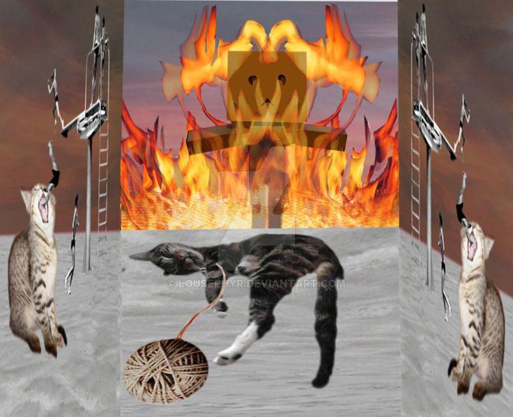 Cat Dreams by lousephyr.deviantart.com on @DeviantArt