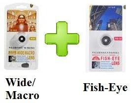 Combo Lente Olho De Peixe   Macro   Grande Angular P/ Iphone - R$ 130,00