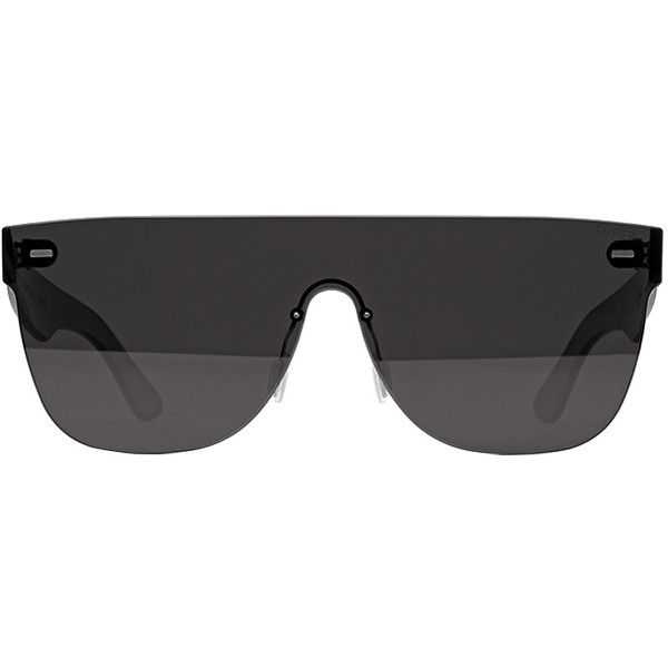 RETROSUPERFUTURE Super Tuttolente Flat Top Black (£230) ❤ liked on Polyvore featuring accessories, eyewear, sunglasses, women, retrosuperfuture sunglasses, futuristic glasses, hipster sunglasses, retrosuperfuture and futuristic sunglasses