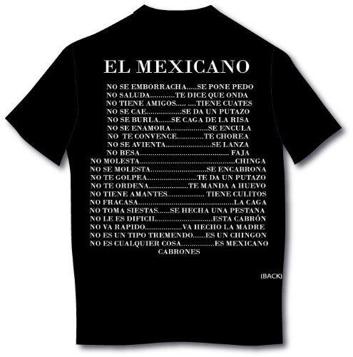 El Mexicano Spanish T-shirt (XX-Large Black)