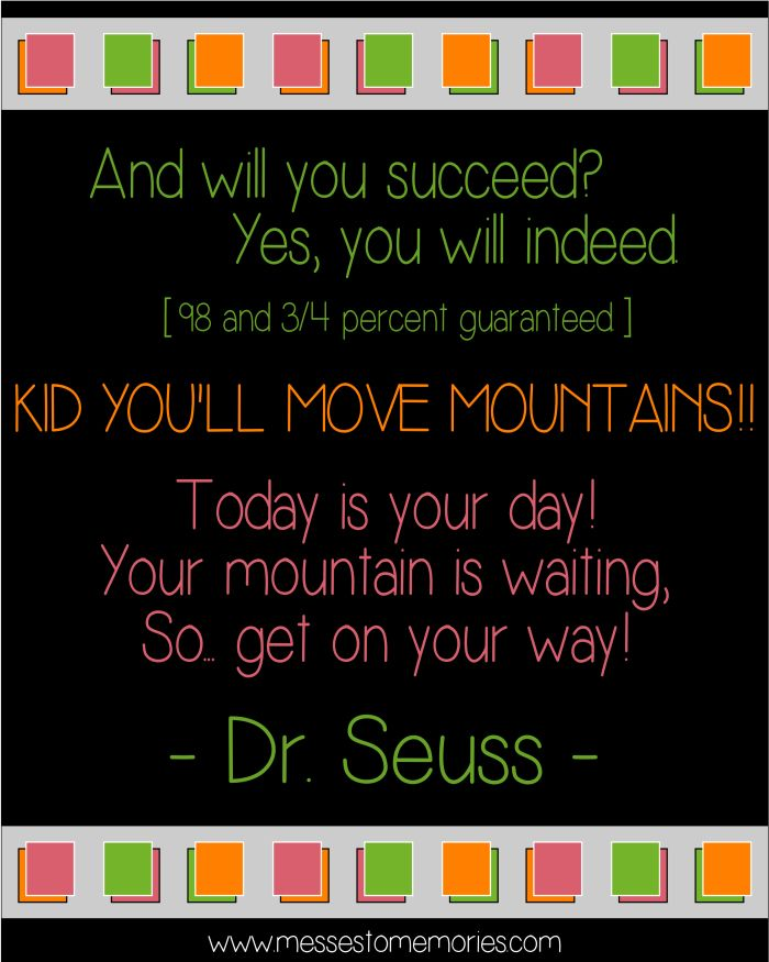 Dr Seuss Kid You Ll Move Mountains: 17 Best Images About Testing On Pinterest
