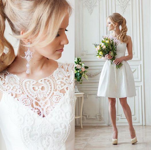 Krótka suknia ślubna lub propozycja poprawinowa!