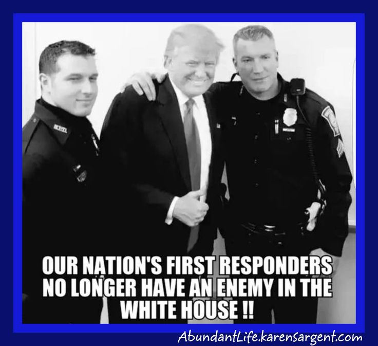 President Trump Supports America's Police Force