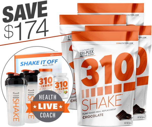 Shake your way to your weight loss goals. Get FREE Weight Loss Supplements And MORE When You Stock Up On NEW 310 Shake! Save $174 on this bundle! What's In This Great Bundle? Are you ready to make a real commitment to becoming the best version of yourself you can? 310 Shake is your ticket to reaching and even exceeding those goals, all while enjoying absolutely delicious daily shakes! Get enhanced weight loss results with 310 Metaboost and 310 Thin, plus receive two Shaker Cups...