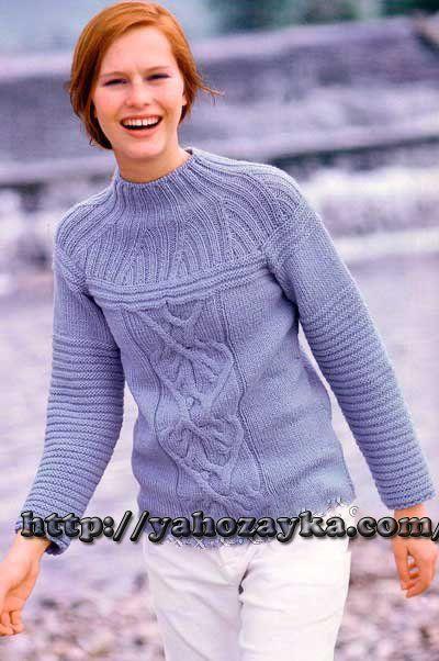 9aee4df0d3a Рельефный пуловер - схема вязания + фото и описание