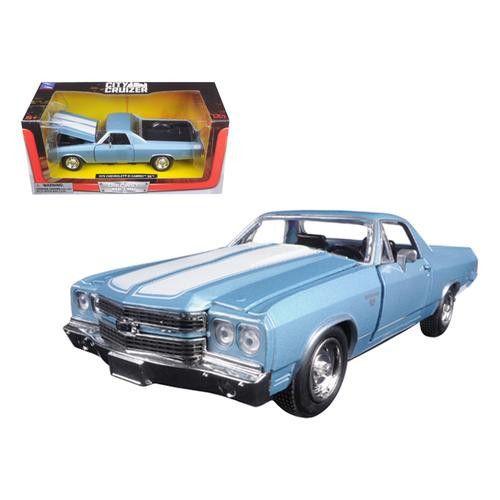 1970 Chevrolet El Camino SS Blue 1/24 Diecast Model Car by New Ray