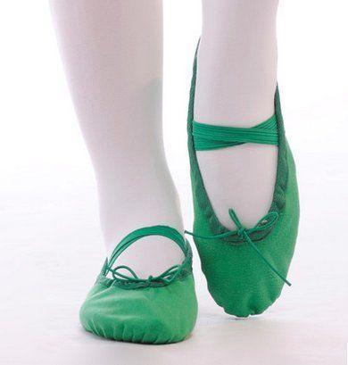 Popular Kinder Frauen flache Ballettschuhe mit Obermaterial Canvas Ballett Schuhe Ballettschuhe Gym Hausschuhe Sport Turnschuhe
