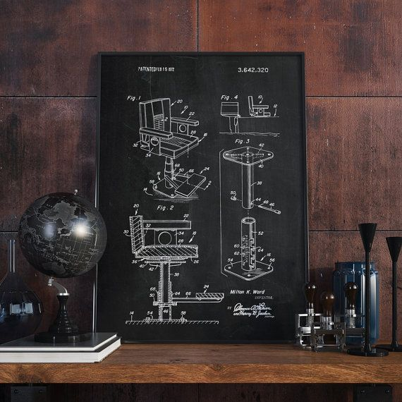 Fishing Chair Patent Print Nautical Wall Art Fishing by dalumna