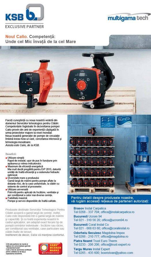 Multigama Tech: Noua gama de pompe Calio de la KSB