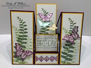 Inking It Up With Cathy: Center Step Card - Stampin' Up!'s Papillon Potpourri