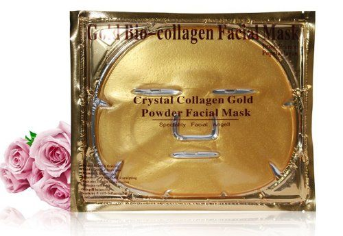 OEM Gold Collagen facial mask Nano Technology Crystal Mask skin care whitening moisturizing collagen face mask English package -- Check out this great product.