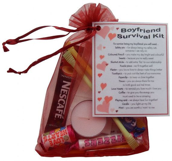 Boyfriend Survival Kit  Great boyfriend gift for by SmileGiftsUK