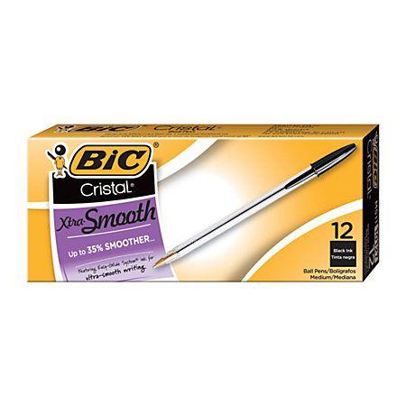BIC Cristal Ballpoint Pens Medium Point