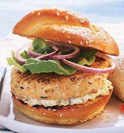 Fish based instead of Burgers!!!  Try it!! Great by the beach!!    Google Image Result for http://www.aldenteblog.com/images/2008/07/01/salmonburger_2.jpg