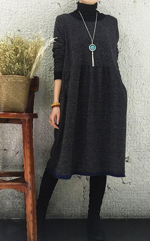 http://www.omychic.com/black-oversize-causal-dress-long-sleeves-dress-women-blouse.html