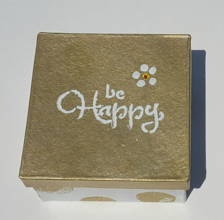 Be Happy - High School Graduation Gift for her - Decorated Box - Trinket Box - Keepsake Box - College Dorm Girl - Spiritual Gift - Gift Box by RocksofLovebyJohnna on Etsy