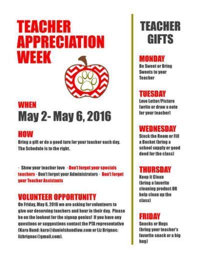 Teacher Appreciation Week May