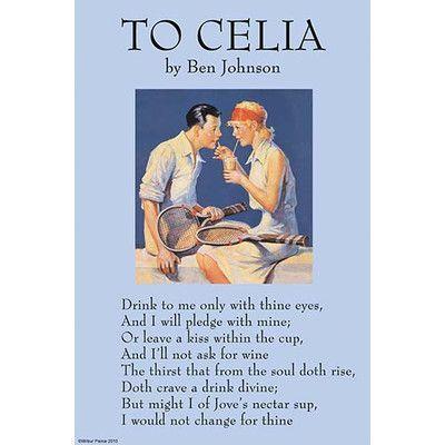 "Buyenlarge 'To Celia' by Ben Jonson Vintage Advertisement Size: 36"" H x 24"" W"
