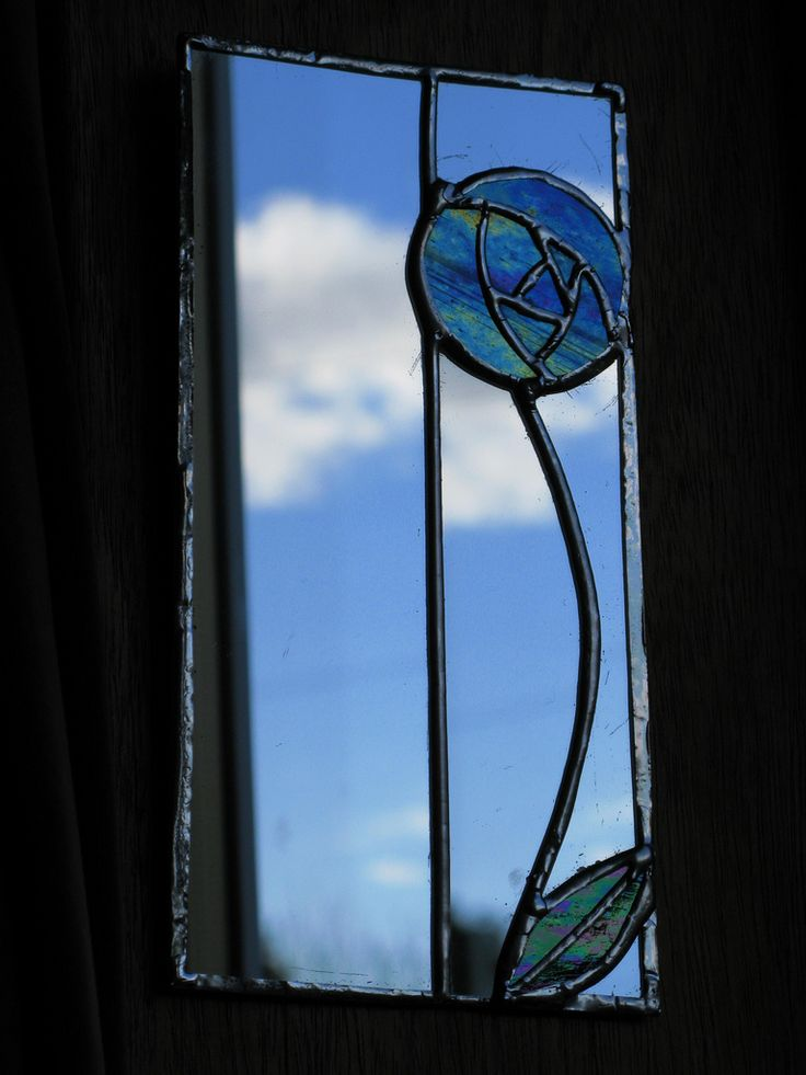 Stained glass panel by Charles Rennie Mackintosh