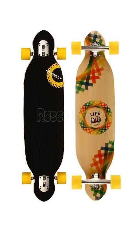 Nijdam Criss Cross longboard, sárga
