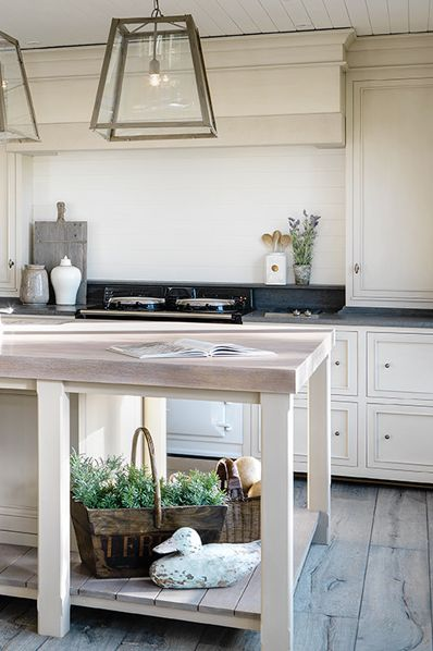 Coastal Retreat Kitchen, designed by Minnie Peters - For Andrew Ryan.ie: Lights Fixtures, Kitchens Floors, Kitchens Crushes, Lights Kitchens, Kitchens Lights, Kitchens Islands, Retreat Kitchens, Pendants Lights, Kitchens Lanterns Pendants